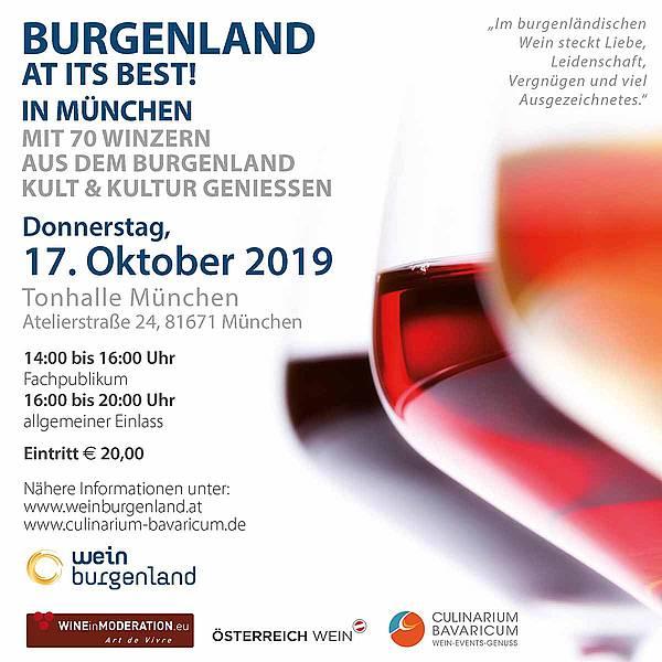 Wein Burgenland Präsentation München
